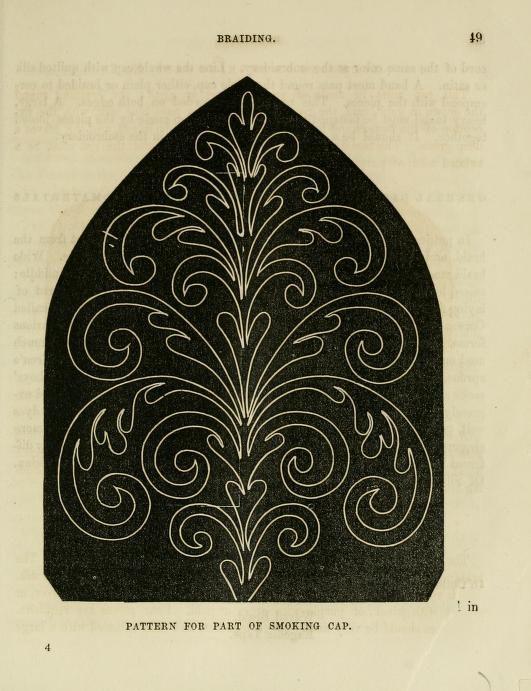 Ladies' Handbook of Fancy and Ornamental Work Smoking cap pattern