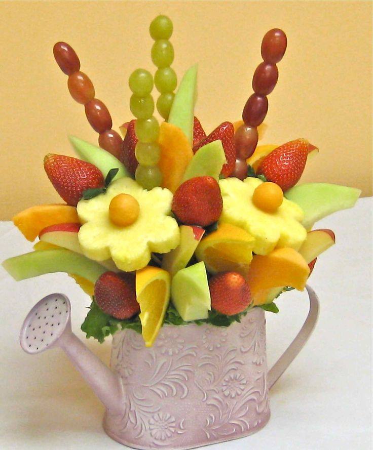 DIY fruit arrangement