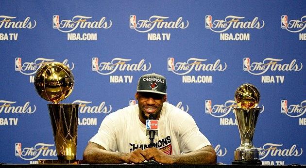 LeBron James decision pays off finally.  #Heatles