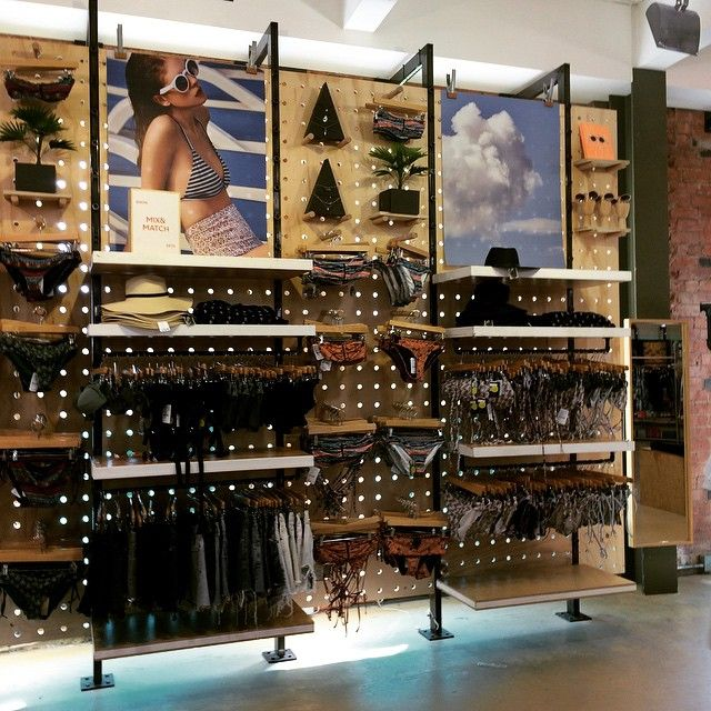 "URBAN OUTFITTERS, Birmingham,UK,""Swimwear Display Wall"", pinned by Ton van der Veer"