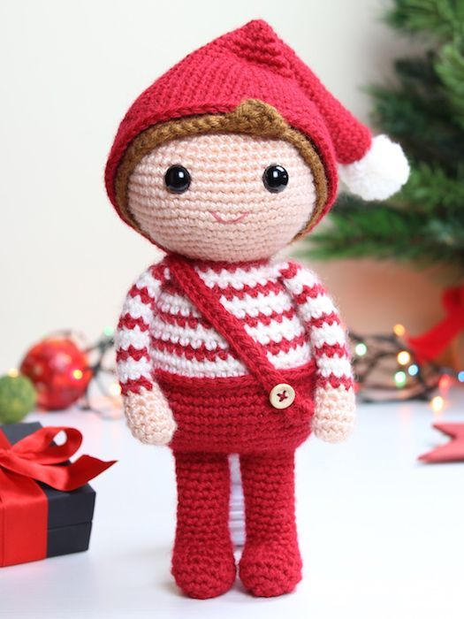 christmas elf amigurumi crochet pattern 1
