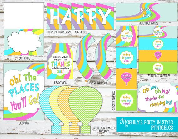 INSTANT DOWNLOAD Oh The Places You'll Go BIRTHDAY by Meghilys