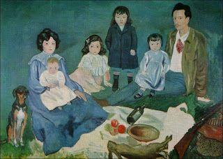 """Les quichotteries de Delphine: """" La familia Soler"""", tableau de Picasso"""