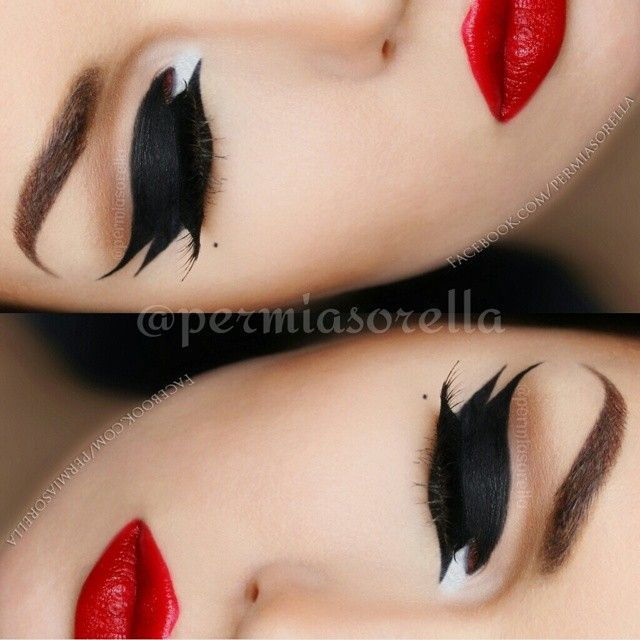 Dramatic eyeliner ♥'d by http://makeupartistrycairns.com.au