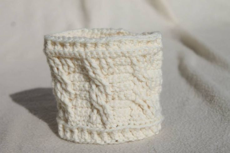 Crochet Cable Stitch Coffee Cozie. $7 or 2/$10
