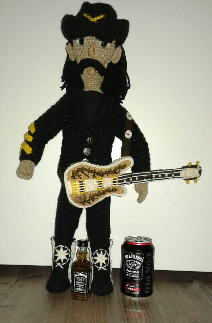 Cheers on Lemmy, passed away 1 year ago. Rest in peace Lemmy and we shal play it loud ;-) 28.12.2016. (Doll made by Sheila DarkDollArt)