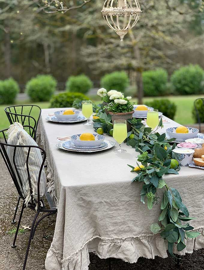 Spring Outdoor Table Ideas Hallstrom Home Outdoor Table Centerpieces Summer Outdoor Party Decorations Outdoor Dinner