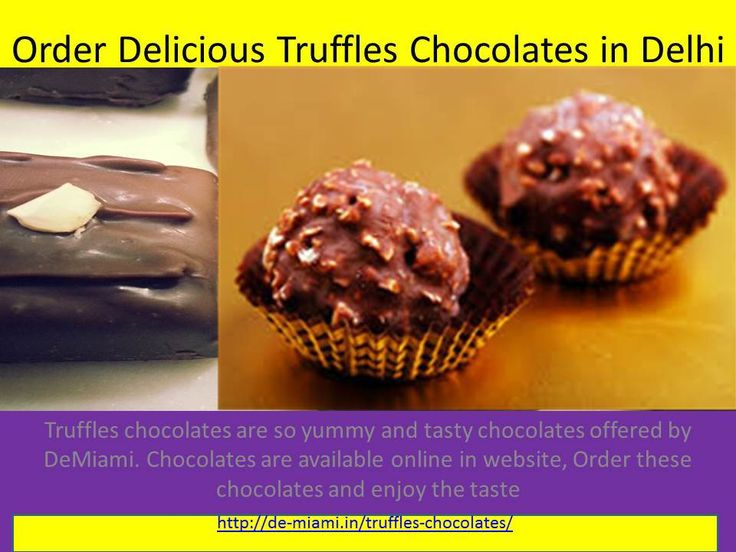 Truffles chocolates are so yummy and tasty chocolates offered by DeMiami. Chocolates are available online in website. Chocolate truffles are prepared of chocolate ganache which is a concoction of chocolate and cream that is melted.  You can buy truffle chocolate from our Online chocolate shop and can pay us via net banking, credit card, debit card or any offline procedure.