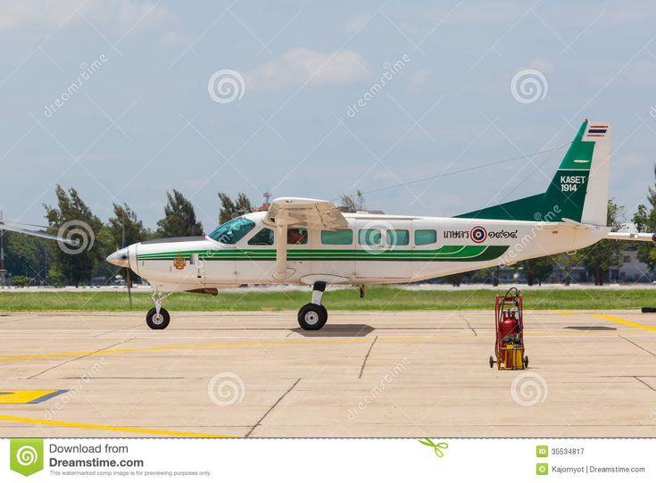 Cessna 208 Caravan Was Show At Royal Thai Air Force (RTAF) Exhibition Editorial Photography - Image: 35534817
