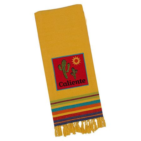 Tidy up spills in the kitchen or dining room with this delightful dishtowel, perfect for adding Southwestern flair to your pot rack or pantry shelves.