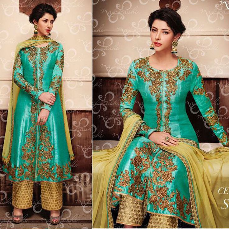 Ethnic Salwar kameez Bollywood Indian Pakistani Wedding Designer Long Party Suit #Handmade #Anarkali