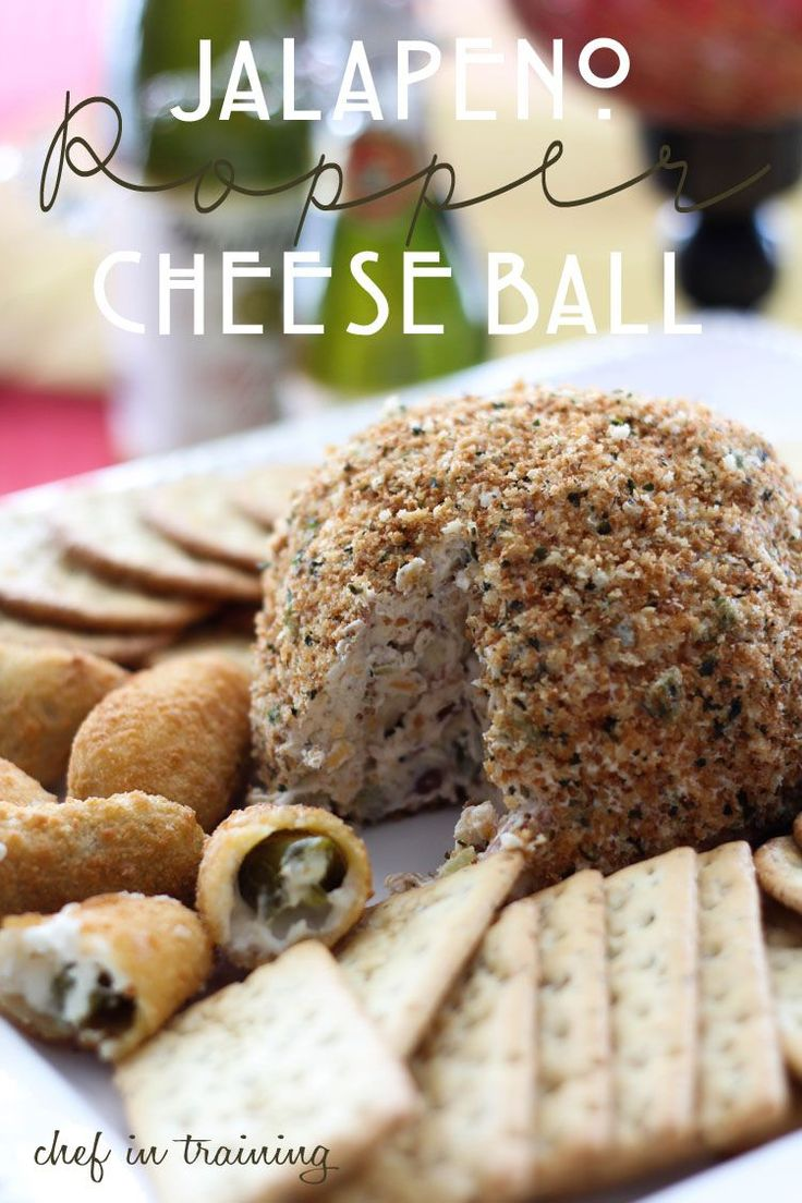 Jalapeno Popper Cheese Ball... One of your favorite appetizers takes on a