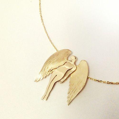 přívěšek Angel of Love ze žlutého zlata 585/1000