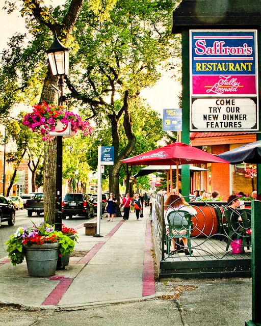 "This was a gorgeous summer day in Winnipeg's ""little Italy"", otherwise known as Corydon Avenue. Photo by Carla Dyck Photography."