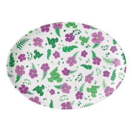 Purple Hibiscus Porcelain Serving Platter - girly gifts girls gift ideas unique special