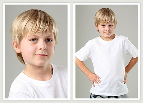 "This site has lots of nice options.  I tend to like the ""longer short"" haircuts for my boy.  ""Children's trendy modern haircuts 