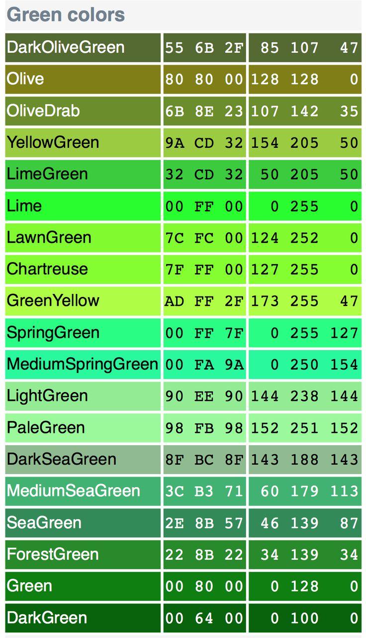 greens | ::: green - olive ::: | Pinterest