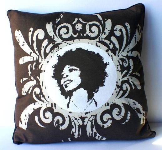 'Afrodiva' cushion chocolate/vanilla - 55 x 55cm