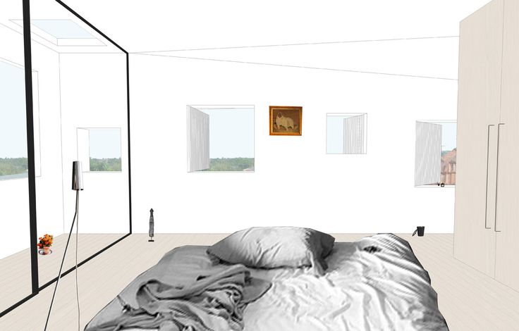 #BennAndPenna #SchibrowskiHouse #Interior #White #Minimal #Bedrooms #Windows #Casement