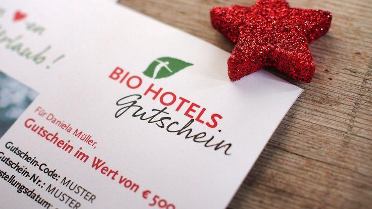 #Gutscheine für Urlaub in den #BIOHOTELS #Geschenkidee für jeden Anlass #Weihnachten