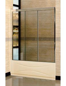Штора для ванной RGW SC-41 170х150см стекло прозрачное, профиль хром