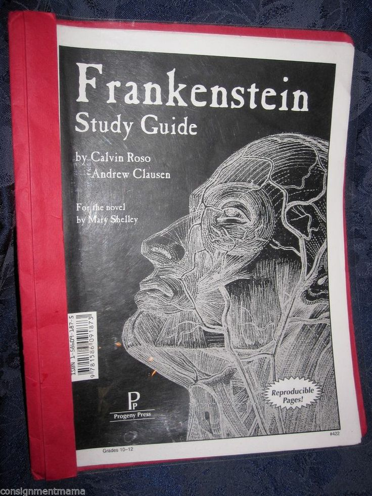 frankenstein study guide Access our frankenstein study guide for free start your 48-hour free trial to access our study guide, along with more than 30,000.