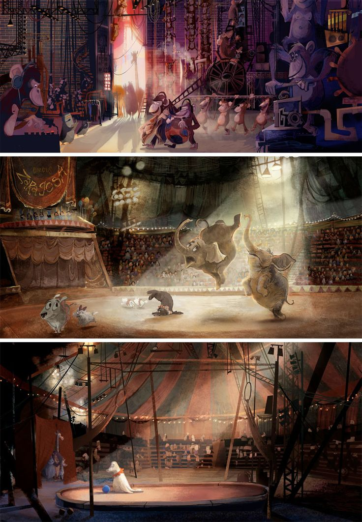 Madagascar 3 (Europe's most wanted), Dreamworks.   Concept art of Lindsey Oliv… – Color Composition and Light
