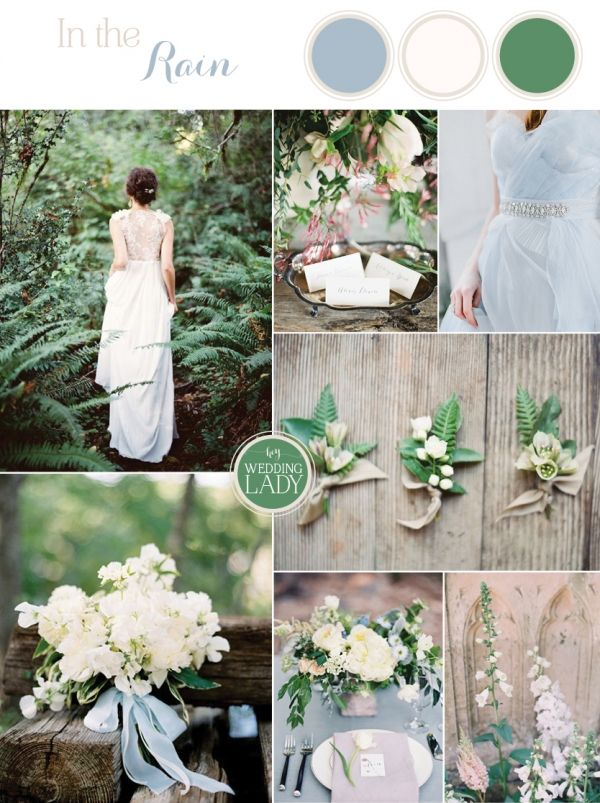 A Rain Washed Garden Wedding in Pastel Blue and Fern Green to Kick Off Spring!