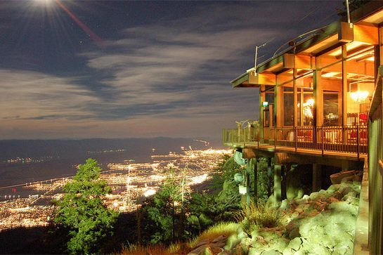 http://www.refinery29.com/palm-springs-weekend-trip-ideas#slide-14 Lookout Lounge, One Tram Way (near North Palm Canyon Drive); 760-325-4537.