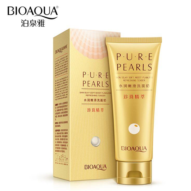 BIOAQUA Marca Hidratación Profunda Limpieza Facial Lavado Perlas Pure Blanqueamiento Facial Limpiador Crema Anti-envejecimiento Cuidado de La Piel
