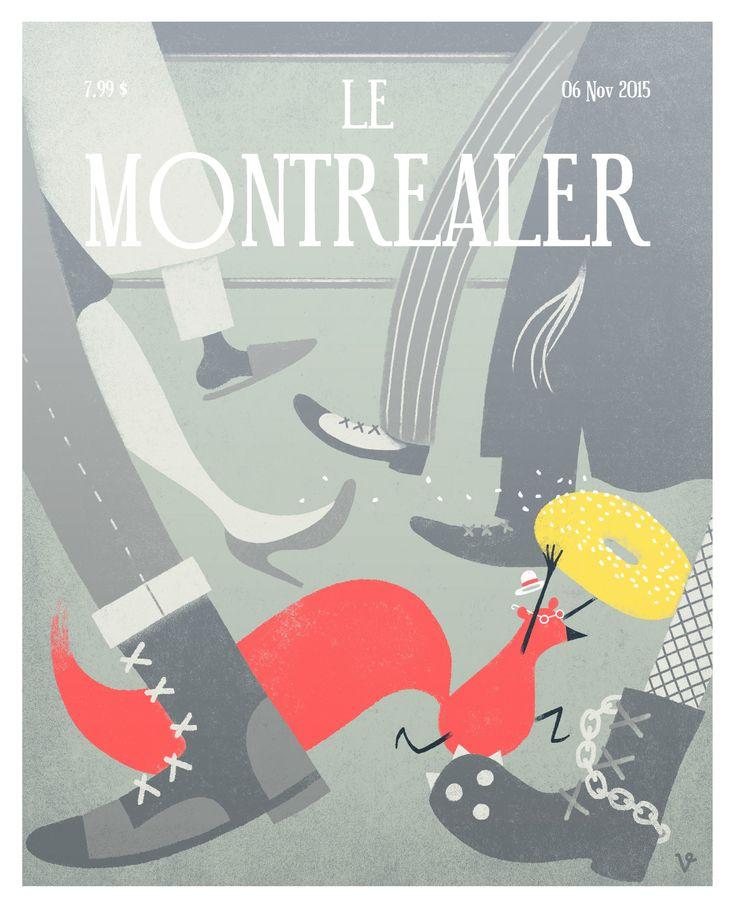 Illustration produced for Le Montréaler collective art show