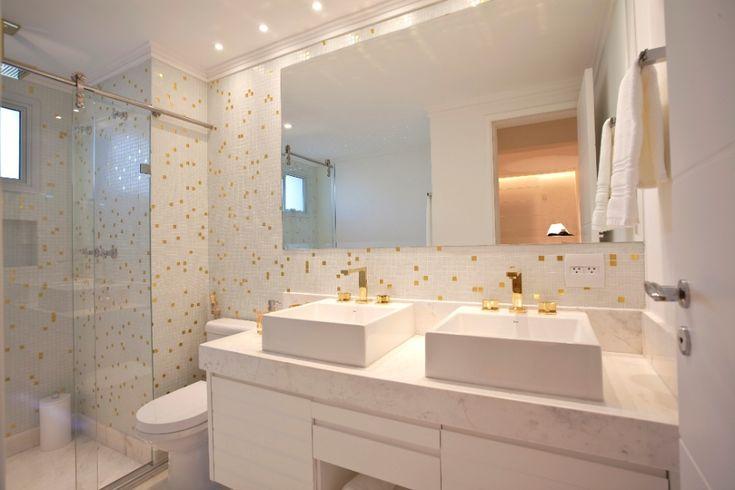 bancada de banheiro casal  Pesquisa Google  Banheiros e Lavabos  Pinterest -> Cuba De Banheiro Cassol
