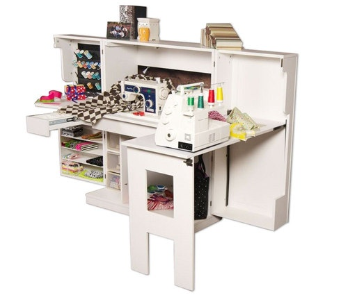 139 best images about sewing closet on pinterest craft for Craft cabinet with table