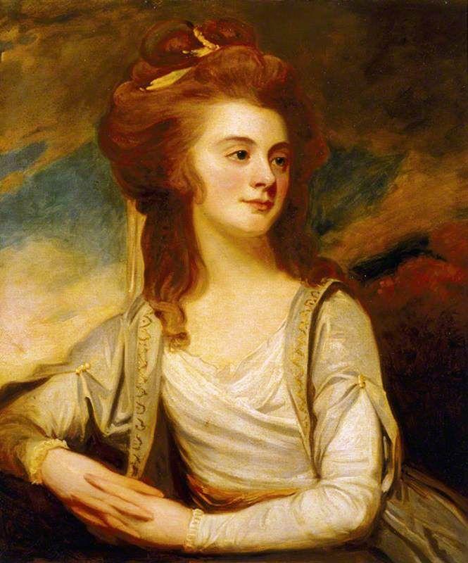 Jemima Yorke (1763–1804), Mrs Reginald Pole-Carew  by George Romney       Date painted: c.1784
