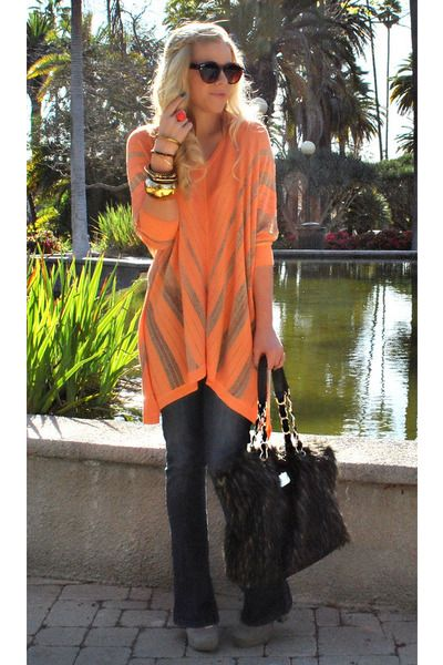 ColorPop: Big Sweaters, Cute Sweaters, Fashion Outfits, Orange Sweaters, Latest Fashion, Fashion Woman, Orange Tops, Girls Style, Travel Outfits
