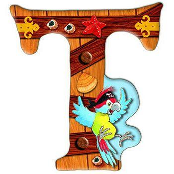 Αυτοκόλλητο γράμμα T «Sharky»