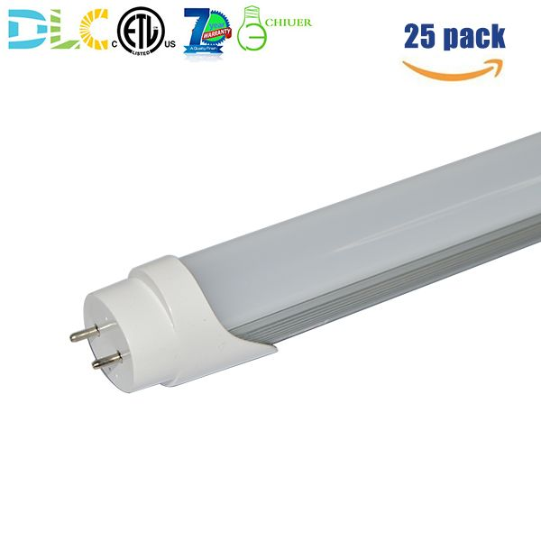 Direct wire T8 LED retrofit light bulb tube ballast bypass, 4ft 36W