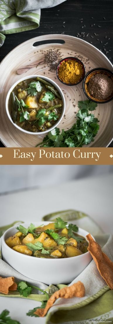 A delicious potato curry that is simple to make and that will easily fill you up. This is a vegetarian recipe but feel free to add whatever you like to it.