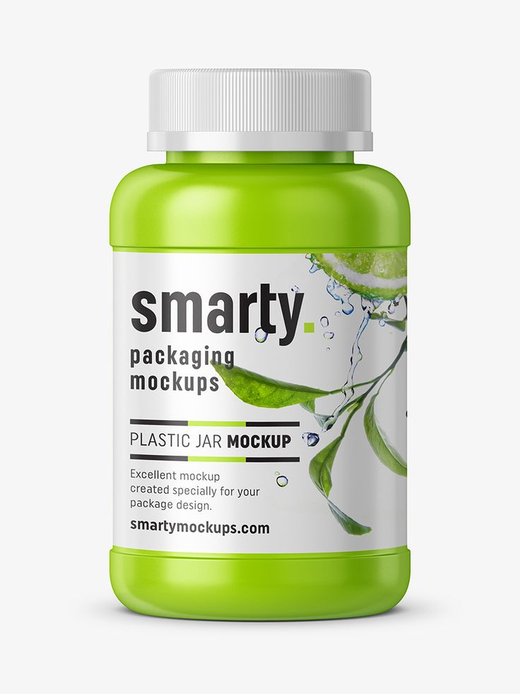 Nutrition bottle mockup - glossy