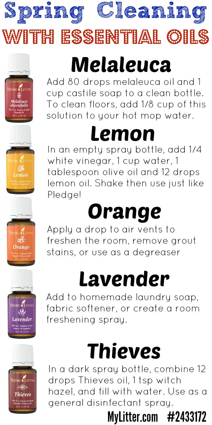 Use essential oils instead of toxic cleaners for your spring cleaning this year  Nothing like a sparkling clean house using homemade cleaners and saving a bit by making them yourself