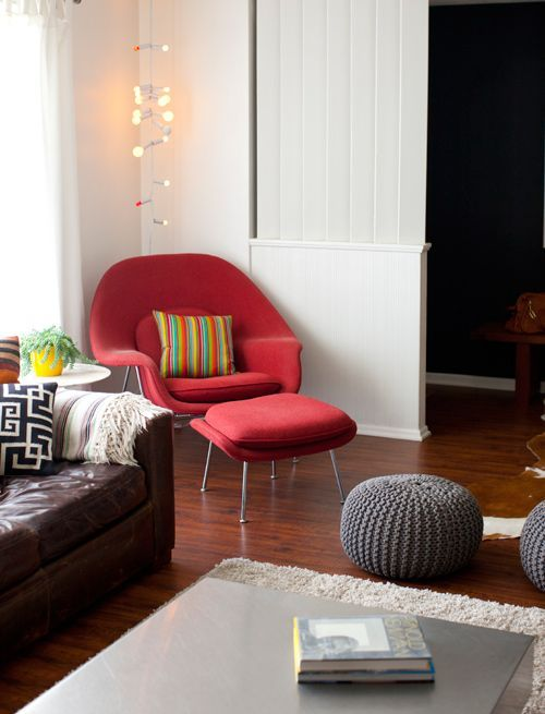 MLF® Eero Saarinen Womb Chair & Ottoman (8 Colors). Only $879 for Red! Premium Cashmere & High Density Foam Cover on Fiberglass. High Polished Stainless Steel. All Hand Sewn. Mid-Century Scandinavian Organic Modernism Style. Curl Up & Relax in Comfort. Shop it from Amazon.com!