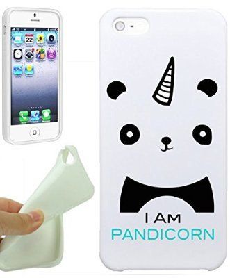 Iam Pandicorn Cute Panda Hipster Love Animal Cool Funny Girls Teens IPhone 5 / iPhone 5S Case Cover By NickyPrints. UNIQUE Designer Gloss Candy TPU Flexible Slim Case for iPhone 5 5S | @giftryapp