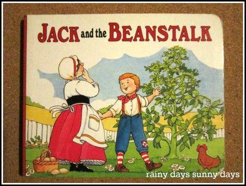 Today's featured product: Jack and the Beanstalk (Vintage Children's Books) www.rainydayssunnydays.com