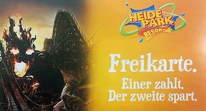 Aok Heide Park Gutschein 2 Fur 1 Coupon 50 Prozent Rabatt Saison 2020 Heide Park Park Heide