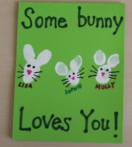 Some bunny loves you card for Father's Day or any other occasion.