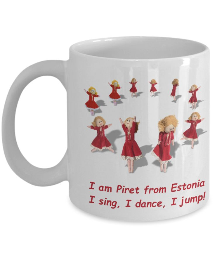 Mug with Estonian Doll