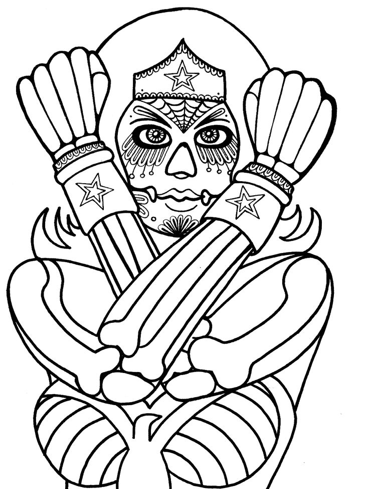 Yucca Flats N M Wenchkin S Coloring Pages Dia De Los