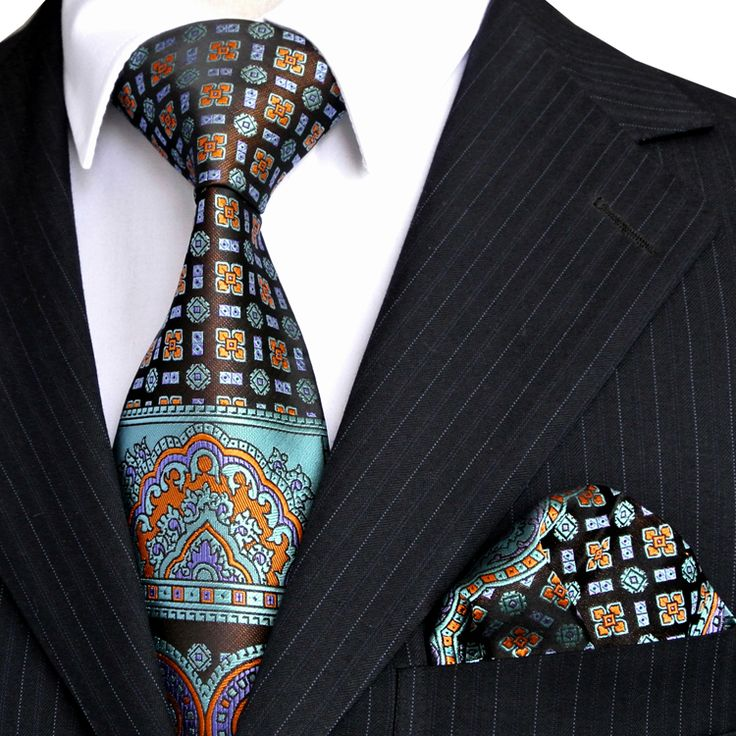 Material:100%SilkJacquard Woven  Condition: Brand New & Handmade  Tie Size: 57'' * 3.35'' (145 *8.5 cm)  Hank