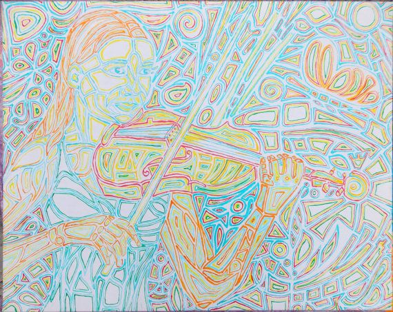Original #Abstract Painting - Woman With #Violin Price: $250
