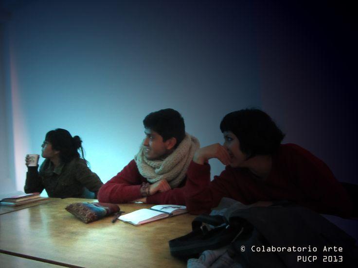 Charla © Colaboratorio Arte - PUCP. Alumnos.